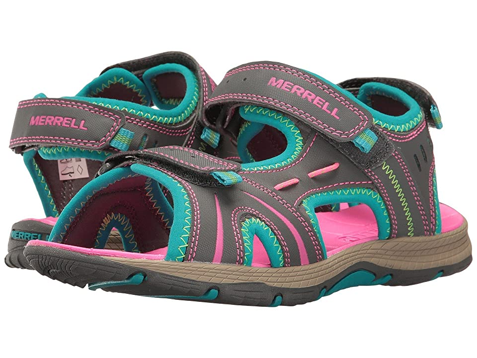 Merrell Kids Panther (Big Kid) (Grey/Turquoise) Girls Shoes