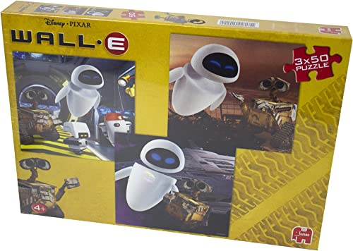 12022 - Jumbo Spiele - 3 x 50 Teile Trio Puzzle - Disney WALL-E, 50 Teile