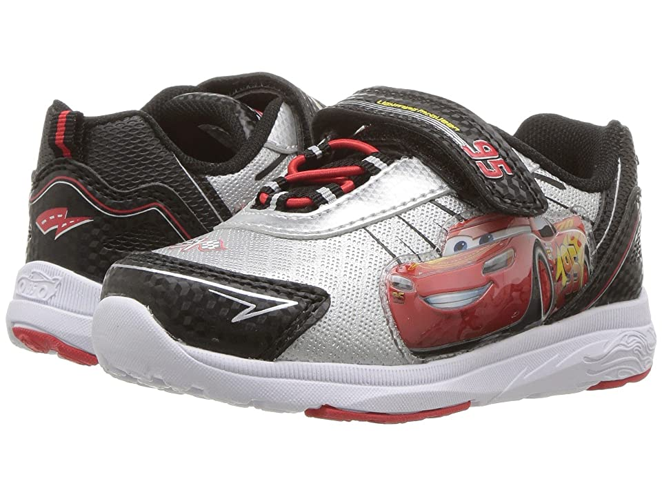 Josmo Kids Cars Lighted Sneaker (Toddler/Little Kid) (Black/Silver) Boys Shoes