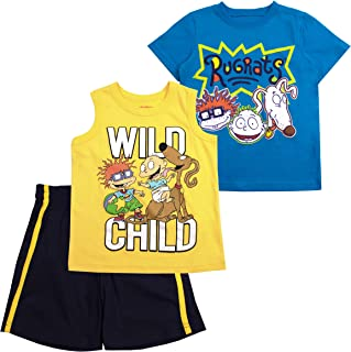 Nickelodeon Boys 3PC Shirts and Short Set: Rugrats, Top Wing, Thomas