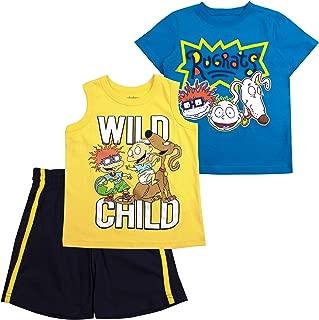 Nickelodeon Boys 3PC Shirts and Short Set: Rugrats, Top Wing, Thomas