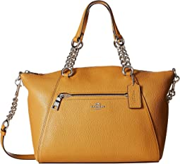 COACH - Polished Pebbled Leather Chain Prairie