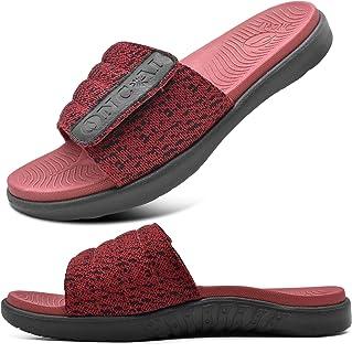 ONCAI Mens Slide Sandals Open Toe Athletic Adjustable Straps Orthotic Plantar Fasciitis Sport Sandals with Soft Cushion Ar...