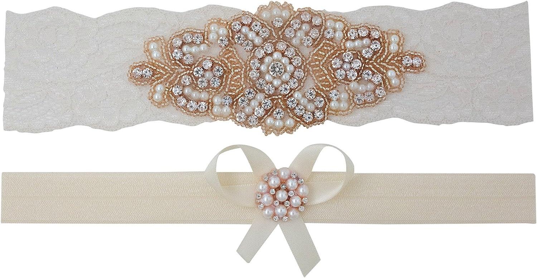 Blush Pink Garter READY TO SHIP Blush Ivory Bridal Garter Set Keepsake /& Toss Lace Wedding Garters Garder Chiffon Flower Garters