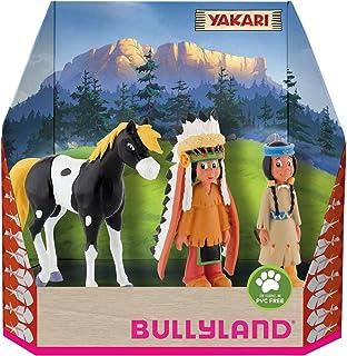 Bullyland 43309-Set, Yakari dans une boîte cadeau, 3 pièces, figurines peintes à la main, sans PVC, pour les enfants pour ...