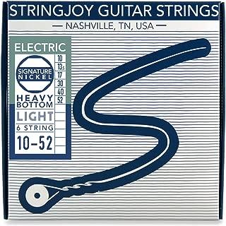 Stringjoy HVY10 Signature Nickel Electric Guitar Strings, (Heavy Bottom Light Gauge - 10-52)