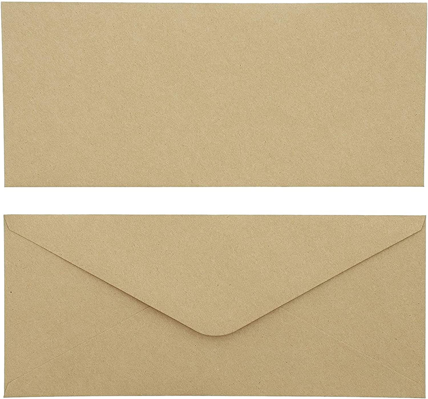 Kraft Paper #10 All stores are sold Business Brown Envelopes 9.5. x 4 Pack In Max 53% OFF 100