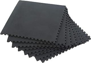 【Amazon限定ブランド】ボディテック(Bodytech) ジョイントマット 【厚さ10mm・20mm】 高硬度 床面 保護 45cm×45cm 8枚入り トレーニング エクササイズマット