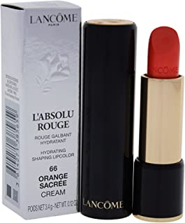 Lancome L'Absolu Rouge Hydrating Shaping Lip Color For Women, No.66 Orange Sacree, 0.12 Ounce