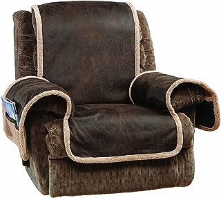 SureFit Vintage Faux Leather - Recliner Slipcover - Brown
