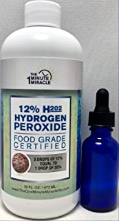 12% Hydrogen Peroxide Food Grade - 16 oz Bottle Recommended by The One Minute Cure Book