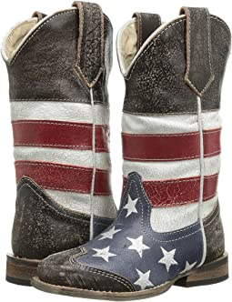 Roper Kids American Flag Square Toe Boot (Toddler/Little Kid)