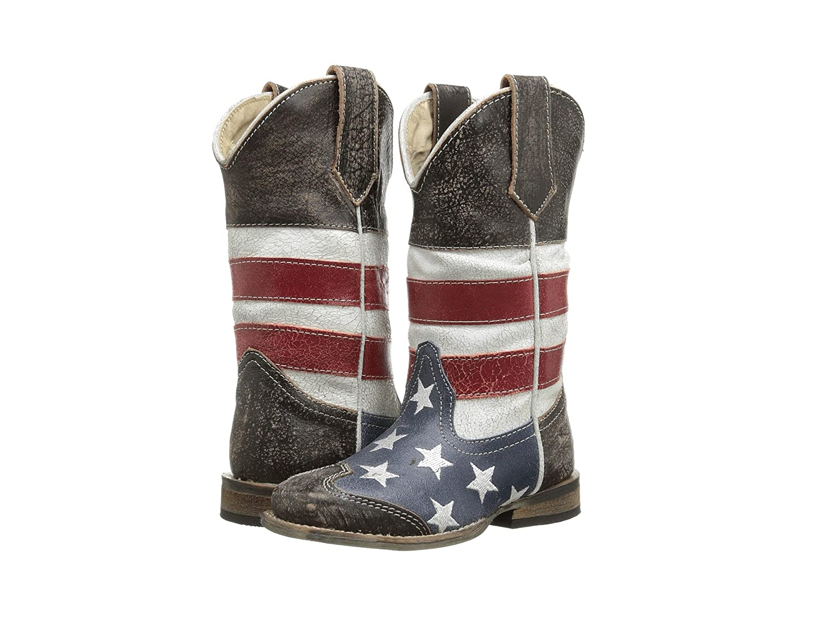 Roper Kids American Flag Square Toe Boot (Toddler/Little Kid)Economical and quality shoes