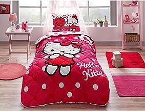Copriletto Matrimoniale Hello Kitty.Amazon It Hello Kitty Trapunta