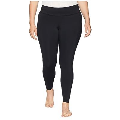 Nike Power Minimal Pocket Tights (Sizes 1X-3X) (Black/Clear) Women