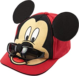 Mickey Mouse Boys Baseball Cap with Removable Sunglasses
