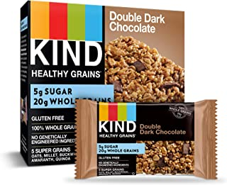 KIND Healthy Grains Granola Bars, Double Dark Chocolate, Gluten Free, 1.2 Ounce (Pack of 30)