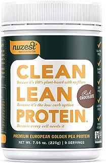 Nuzest Clean Lean Protein - Premium Vegan Protein Powder, Plant Protein Powder, European Golden Pea Protein, Dairy Free, Gluten Free, GMO Free, Naturally Sweetened, Rich Chocolate, 9 Servings, 7.9 oz