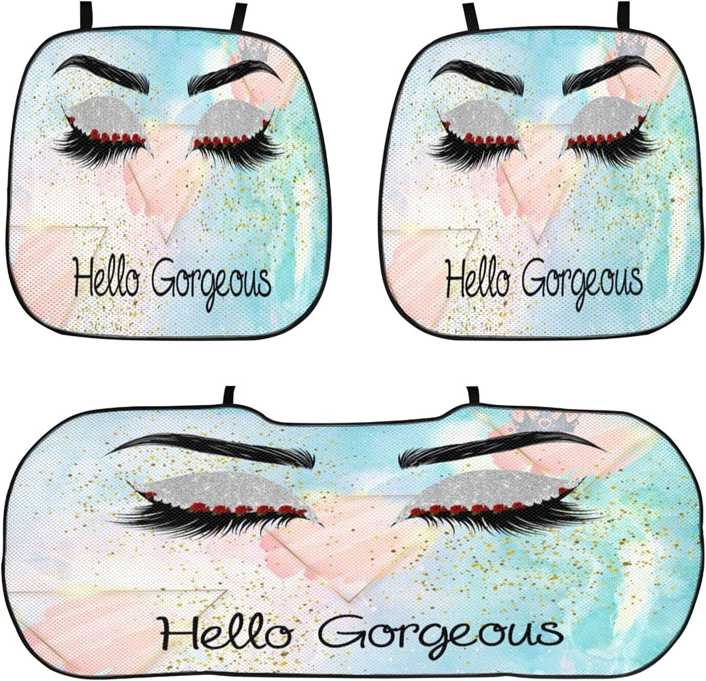 Carwayii Hello mart Gorgeous Watercolor Silvery Seat Car Excellent Cushion Comf