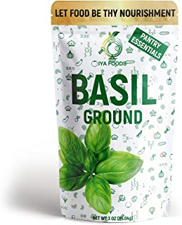 Iya Foods Basil Ground 3 oz Pack, Sourced Hand Selected Herbs, 100% Authentic Taste & Satisfaction