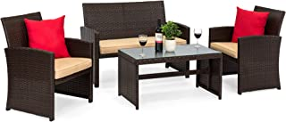 Terrific Amazon Com 4 Pieces Patio Furniture Sets Patio Gamerscity Chair Design For Home Gamerscityorg