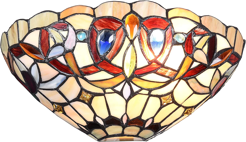 Maxxmore Tiffany Wall Sconces お歳暮 Style W Lighting 祝日 Victorian
