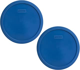 Pyrex 7401-PC 3 Cup Lake Blue Round Plastic Lid (2, Lake Blue)