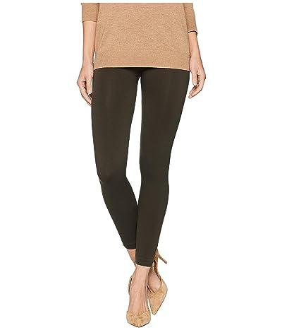 Spanx Look at Me Now Seamless Side Zip Leggings (Deep Olive) Women