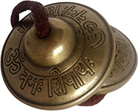 Divine Om Nama Shiva Tingsha tibetan Cymbals Manjeera 2.5 inch diameter