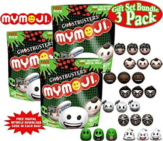 Funko Ghostbusters Mymoji Mini Vinyl Action Figure Mystery Blind Bags Gift Set Party Bundle - 3 Pack (Assorted)