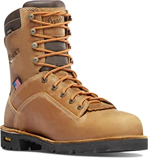 """Danner Quarry USA 8"""" Distressed Brown (17317) at Vibram Sole Oil &"""