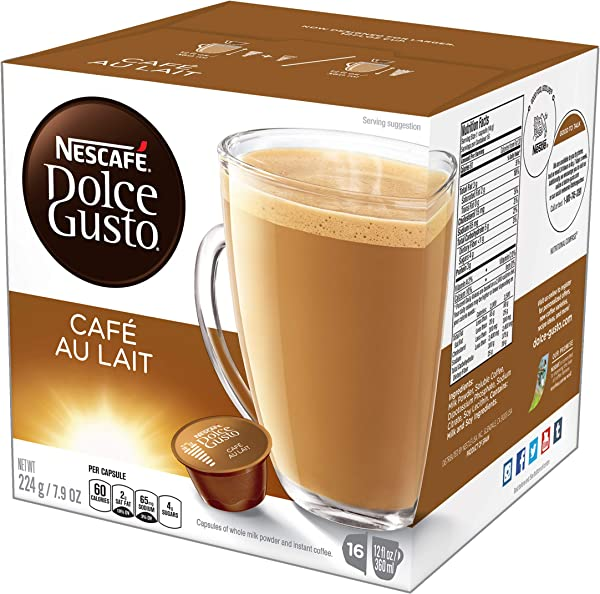 NESCAF Dolce Gusto Coffee Capsules Caf Au Lait 7 9 Ounce Pack Of 3