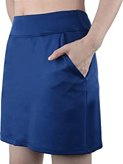 slimour Women Travel Skirt with Pockets Athletic Skirts Active Skirt with Shorts Hiking Skort