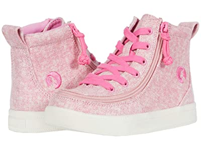 BILLY Footwear Kids Classic Lace High (Toddler) (Heather Pink) Girl
