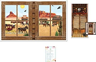 Western Window Insta-Scene and Saloon Door Cover (with Party Planning Checklist)