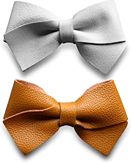 Genuine Leather Hair Bows for Girls, Toddler Bows, Hair Clips for Girls