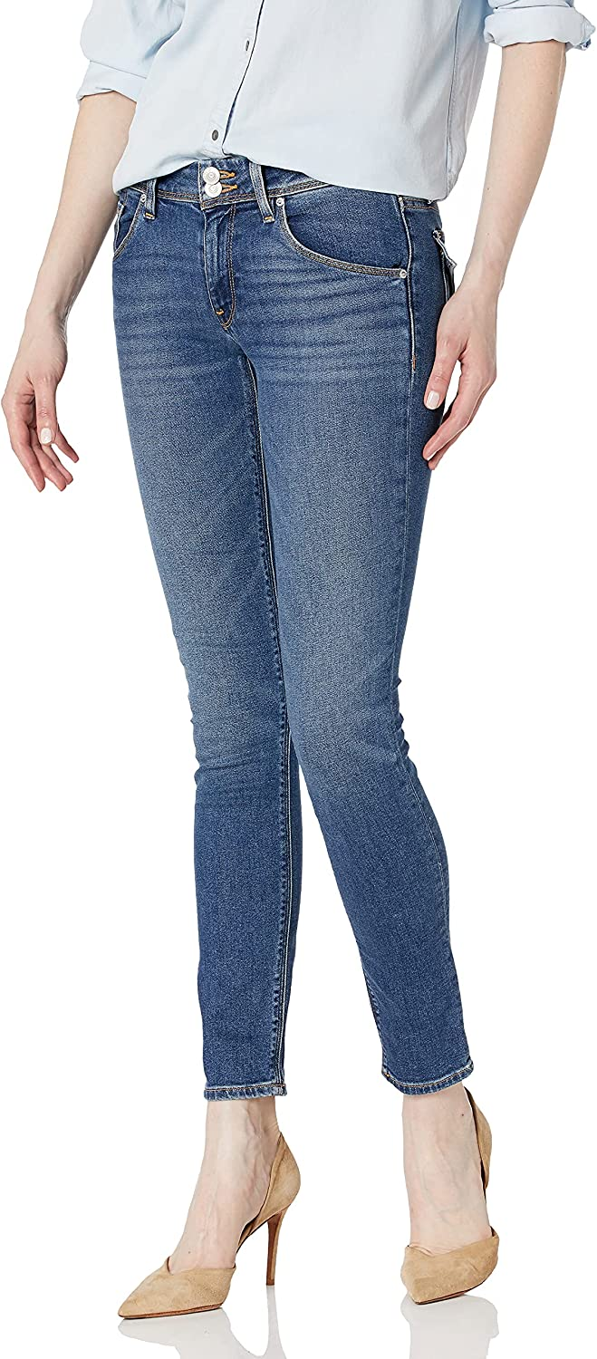 HUDSON Women's Collin Mid Rise Skinny Jean, with Back Flap Pockets