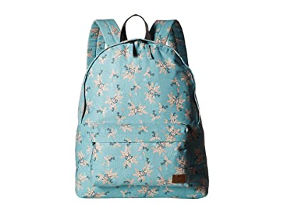 Roxy Sugar Baby Canvas 16L Small Backpack (Aquifer/Flowers Everyday Swim) Backpack Bags