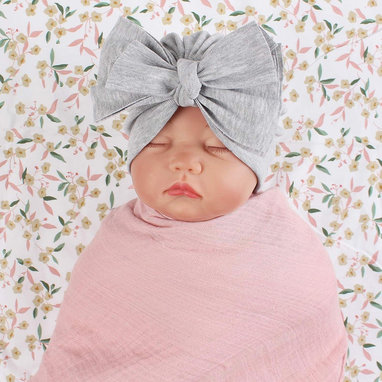 Details about  /Newborn Headband Hat Cotton Baby Infant Turban Knot Headband Head Wrap For Girls