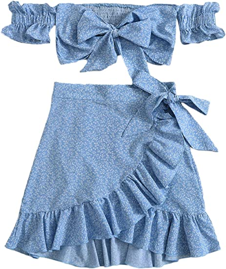 blue set skirt top boho summer highly rated