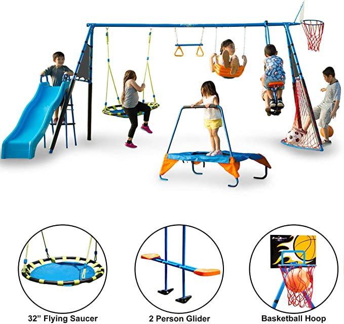FITNESS REALITY KIDS Metal Swing Set - Best Metal Swing Sets