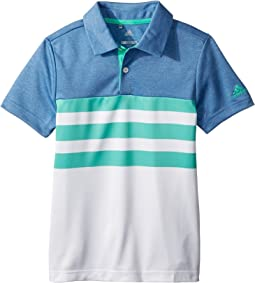 adidas Golf Kids 3-Stripe Fashion Polo (Big Kids)