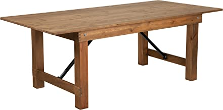 Flash Furniture HERCULES Series 7' x 40'' Antique Rustic Solid Pine Folding Farm Table