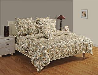 Swayam Caramel Collection Queen Bedsheet Set, Multi-Colour, 240 x 270 cm, 1481Q, Set of 3
