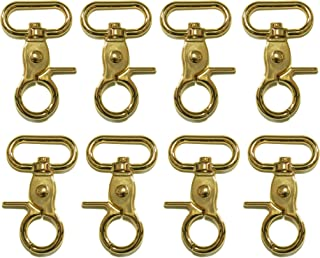 """1"""" Inside Diameter D-Ring Lobster Clasp Claw Swivel Lobster Snap Clasp Hook for DIY Craft Key Ring Bag Purse (Light Gold - 10pcs)"""