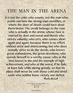 Desiderata Gallery Brand, 11x14 Words of Wisdom by Theodore Roosevelt - The Man in The Arena 11x14 Archival Art Card Print