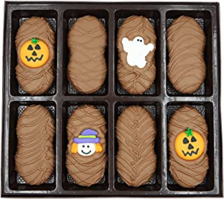 Philadelphia Candies Milk Chocolate Covered Nutter Butter Cookies, Halloween Assortment (Cute Witch, Ghost, Pumpkin) Net Wt 8 oz