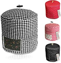 Pressure Cooker Cover Custom Made Accessories - For Use with 6 QT Pressure Cooker Pot Models (Black and White Gingham)