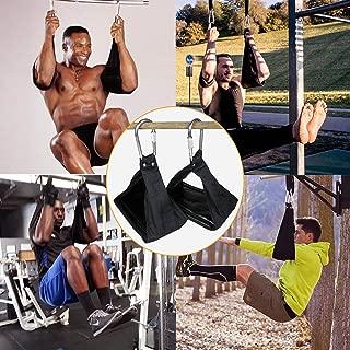 WayRun Ab Straps Ab Slings Padded Hanging Abdominal Straps Core Exercise Equipment Training Gym - Pair