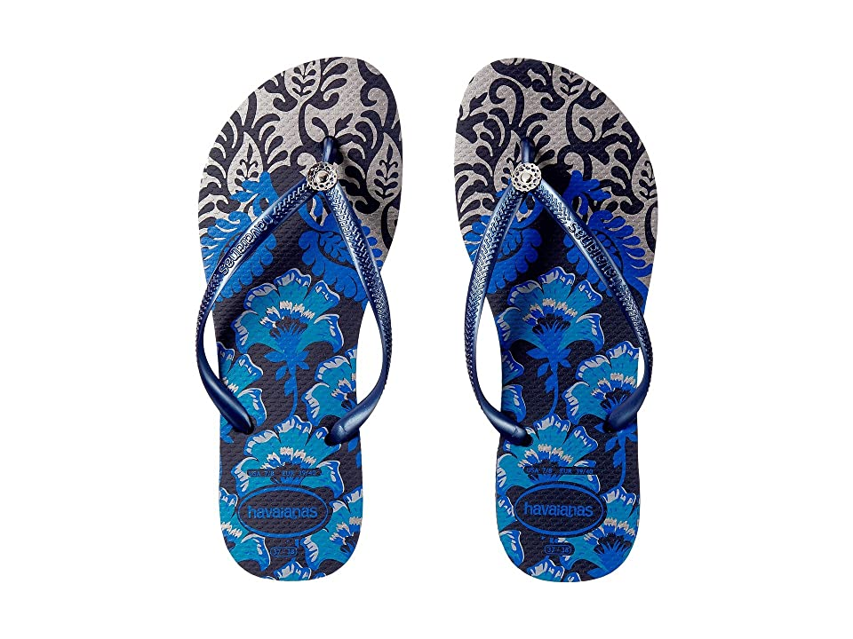 Havaianas Slim Royal Flip Flops (Navy Blue/Navy Blue) Women
